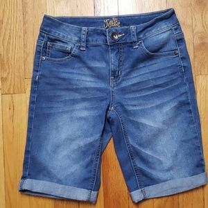 Justice Girl's Cuffed Jean Shorts size 14S
